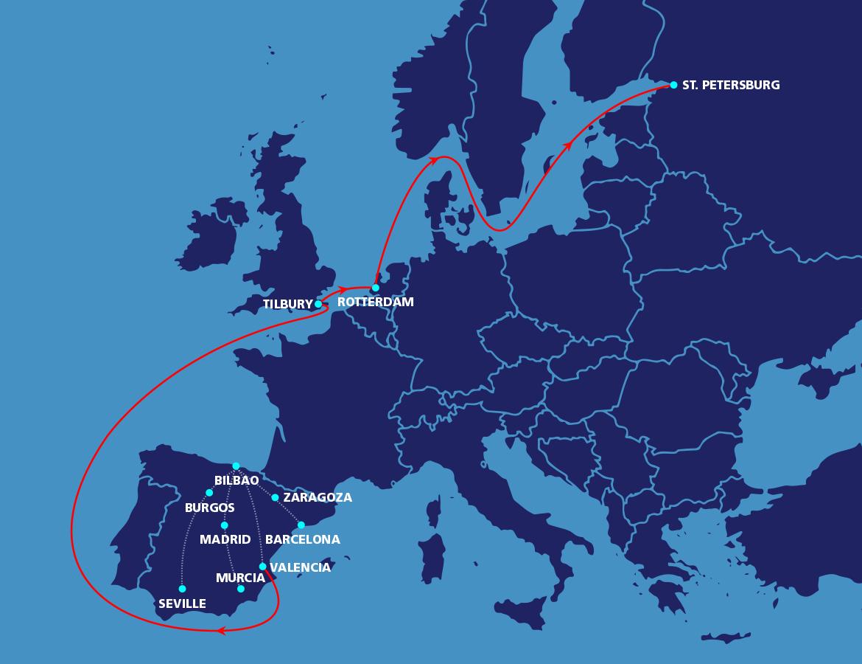 Uk spain netherlands russia map macandrews door to door intra uk spain netherlands russia map gumiabroncs Images