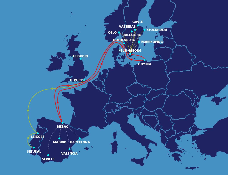 UK-Sweden-Spain-Poland-Map – MacAndrews - Door to Door Intra ...
