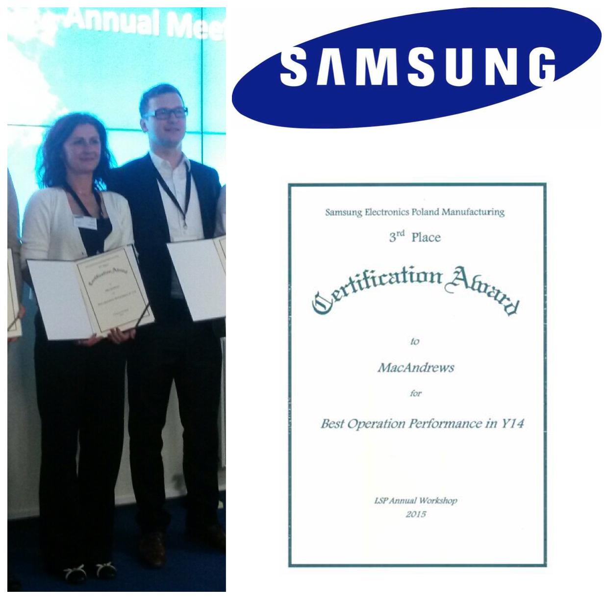 samsung-macandrews-2014-operations-performance-awards-poland