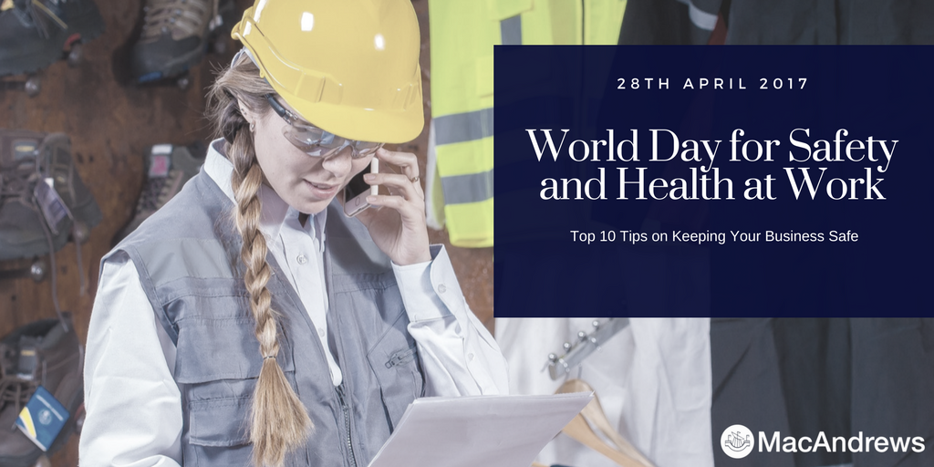 Top Tips for H&S at the office - World Day for Health and